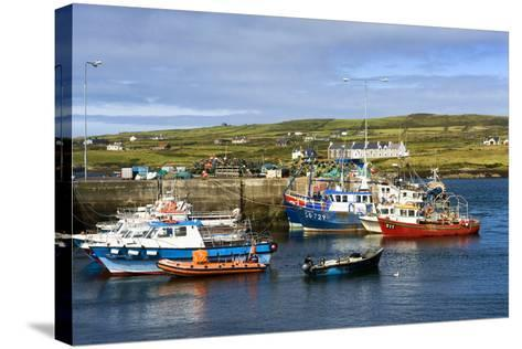 Fishing Boats at Portmagee in Kerry, Ireland-Chris Hill-Stretched Canvas Print