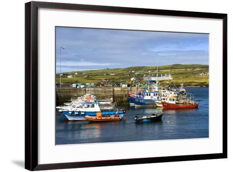 Fishing Boats at Portmagee in Kerry, Ireland-Chris Hill-Framed Art Print