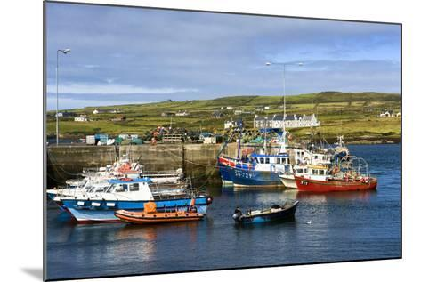 Fishing Boats at Portmagee in Kerry, Ireland-Chris Hill-Mounted Photographic Print