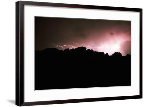 Lightning over Devil's Backbone, Loveland, Colorado-Keith Ladzinski-Framed Art Print