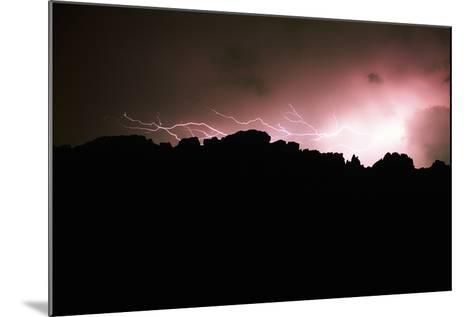 Lightning over Devil's Backbone, Loveland, Colorado-Keith Ladzinski-Mounted Photographic Print