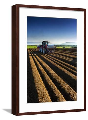 Potato Farming in Northern Ireland-Chris Hill-Framed Art Print