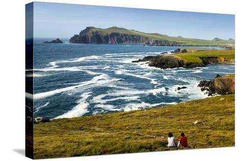 Sybil Head over Cloghter Bay in Kerry, Ireland-Chris Hill-Stretched Canvas Print