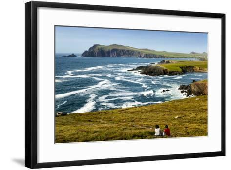Sybil Head over Cloghter Bay in Kerry, Ireland-Chris Hill-Framed Art Print