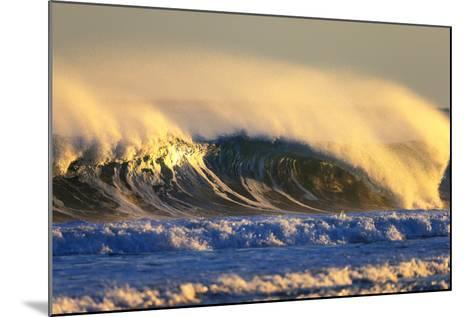 Late Afternoon Light Illuminates a Winter Wave Off the Coast of Maine-Robbie George-Mounted Photographic Print