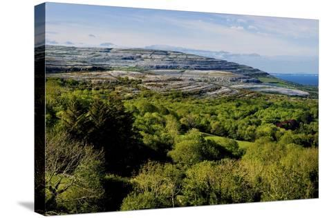 View from Corkscrew Hill Towards Ballyvaughan, Clare-Chris Hill-Stretched Canvas Print