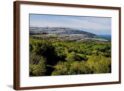 View from Corkscrew Hill Towards Ballyvaughan, Clare-Chris Hill-Framed Art Print