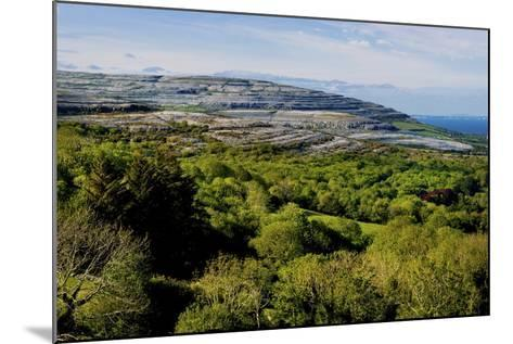 View from Corkscrew Hill Towards Ballyvaughan, Clare-Chris Hill-Mounted Photographic Print