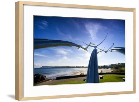 Leap of Faith, Four Swans Sculpture at Ballycastle-Chris Hill-Framed Art Print