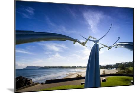 Leap of Faith, Four Swans Sculpture at Ballycastle-Chris Hill-Mounted Photographic Print