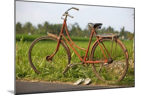 Indonesia, Bali, Ubud, Vintage Bike in Front of Rice Fields-Design Pics Inc-Mounted Photographic Print