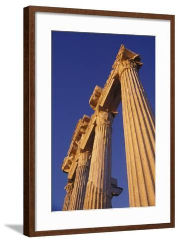 Classical Column, Low Angle View-Design Pics Inc-Framed Art Print