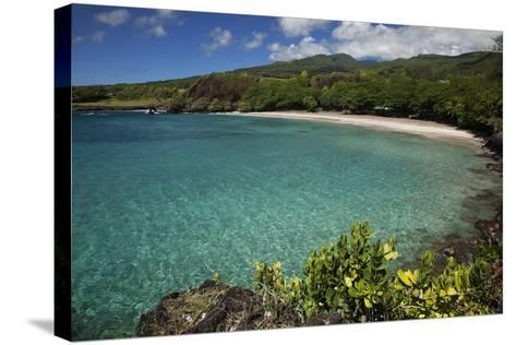 Hawaii, Maui, Hana, a Sunny View of Hamoa Beach with Clear Ocean on a Calm Day-Design Pics Inc-Stretched Canvas Print