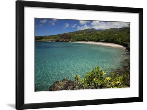 Hawaii, Maui, Hana, a Sunny View of Hamoa Beach with Clear Ocean on a Calm Day-Design Pics Inc-Framed Art Print