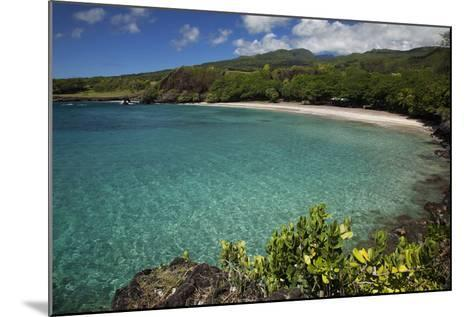 Hawaii, Maui, Hana, a Sunny View of Hamoa Beach with Clear Ocean on a Calm Day-Design Pics Inc-Mounted Photographic Print