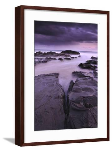 Sunset on Beach Near Melbourne, Australia-Keith Ladzinski-Framed Art Print