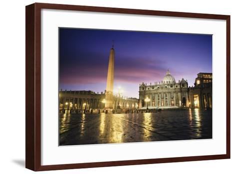 Nightfall at the Square at St. Peter'S. the Vatican. Rome,Italy-Design Pics Inc-Framed Art Print