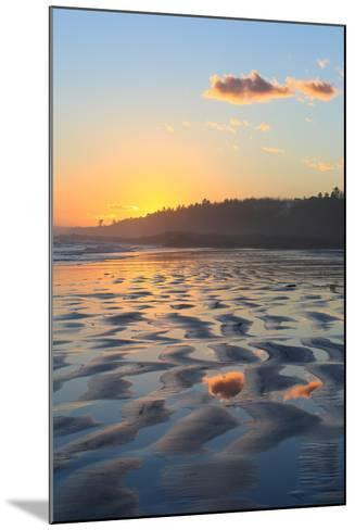 Sunset Colors Reflect onto Maine's Higgins Beach in Wintertime-Robbie George-Mounted Photographic Print