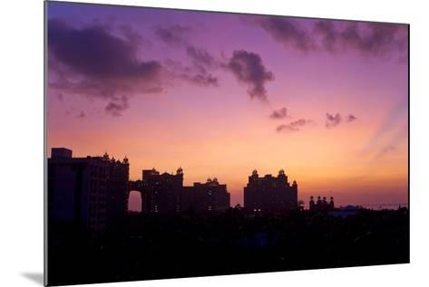 Atlantis Resort in Silhouette During a Purple Sunset-Mike Theiss-Mounted Photographic Print