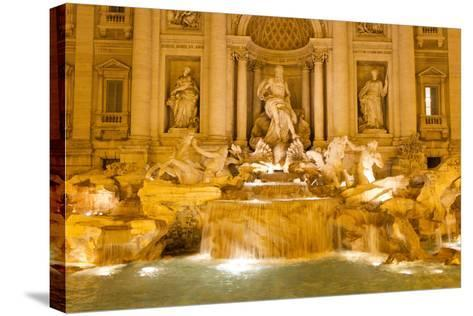 The Trevi Fountain Illuminated at Night-Mike Theiss-Stretched Canvas Print