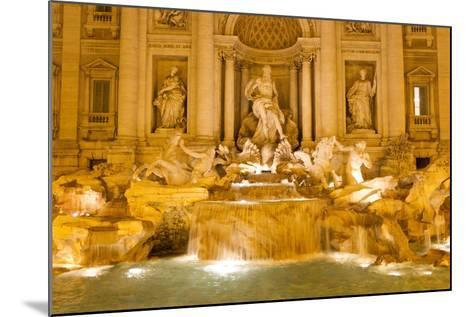 The Trevi Fountain Illuminated at Night-Mike Theiss-Mounted Photographic Print