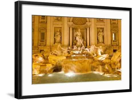 The Trevi Fountain Illuminated at Night-Mike Theiss-Framed Art Print