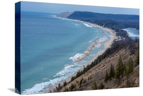 Sleeping Bear Dunes National Lakeshore on the East Side of Lake Michigan-Michael Melford-Stretched Canvas Print