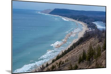 Sleeping Bear Dunes National Lakeshore on the East Side of Lake Michigan-Michael Melford-Mounted Photographic Print