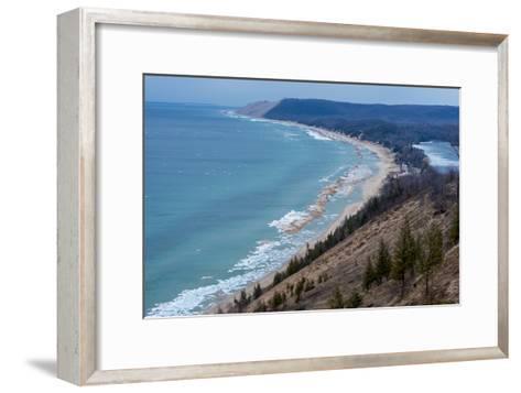 Sleeping Bear Dunes National Lakeshore on the East Side of Lake Michigan-Michael Melford-Framed Art Print