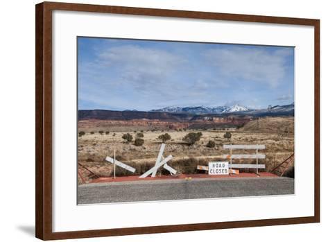 An Asphalt Road Comes to an Abrupt End Just before a Spectacular Landscape-Jim Reed-Framed Art Print