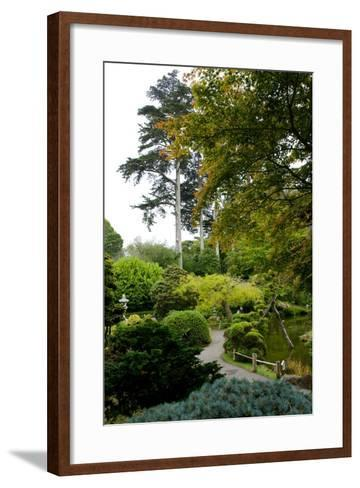 Curving Paths in the Japanese Tea Garden, the Oldest Public U.S. Japanese Garden-Krista Rossow-Framed Art Print