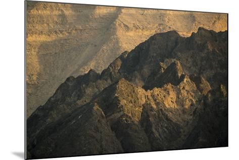 Craggy Coastline Off Oman-Michael Melford-Mounted Photographic Print