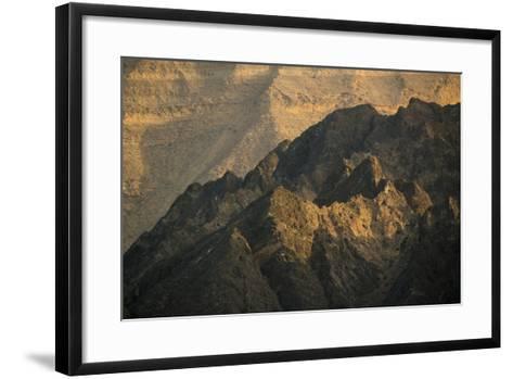 Craggy Coastline Off Oman-Michael Melford-Framed Art Print