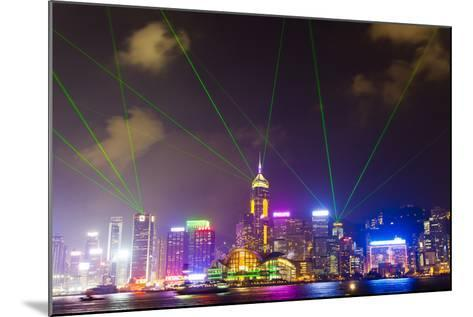 The Symphony of Lights Light and Laser Show over Hong Kong-Mike Theiss-Mounted Photographic Print