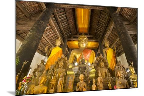 Buddha Statues Inside Wat Visoun, or Commonly known as That Makmo-Michael Melford-Mounted Photographic Print