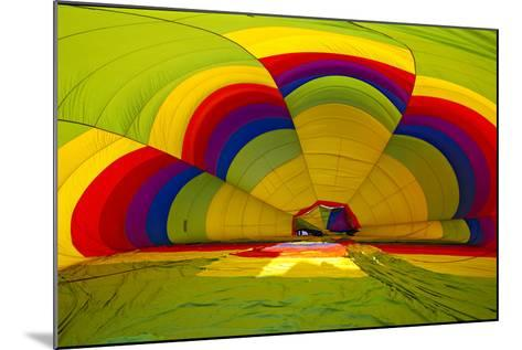 Interior of a Deflated Hot Air Balloon at the White Sands Invitational Balloon Festival-Derek Von Briesen-Mounted Photographic Print