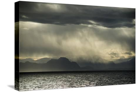 Dramatic Weather at the Fjord of Kangerlussuaq-Michael Melford-Stretched Canvas Print