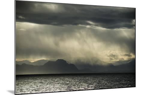 Dramatic Weather at the Fjord of Kangerlussuaq-Michael Melford-Mounted Photographic Print