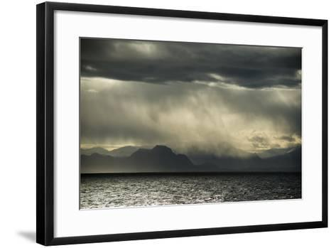 Dramatic Weather at the Fjord of Kangerlussuaq-Michael Melford-Framed Art Print