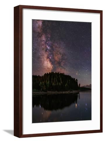 The Milky Way Appears in Constellation Scorpius and Sagittarius over the The Jackson Lake Dam-Babak Tafreshi-Framed Art Print