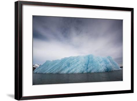 Ice from the Monacobreen Glacier Protrudes into the Sea-Michael Melford-Framed Art Print
