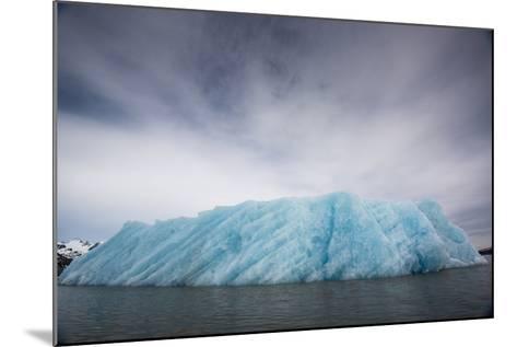 Ice from the Monacobreen Glacier Protrudes into the Sea-Michael Melford-Mounted Photographic Print