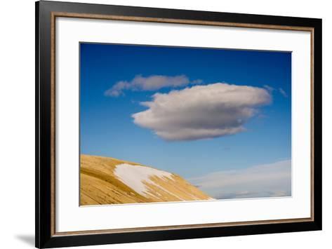 A Cloud in a Blue Sky Floats Above Palanderbukta-Michael Melford-Framed Art Print