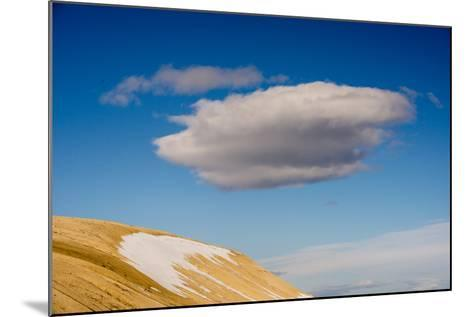A Cloud in a Blue Sky Floats Above Palanderbukta-Michael Melford-Mounted Photographic Print