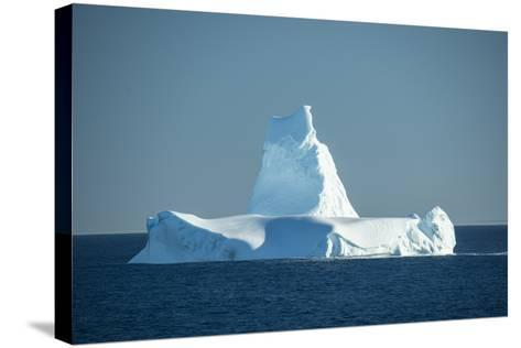 A Monument Looking Iceberg in the Labrador Sea-Michael Melford-Stretched Canvas Print
