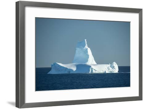 A Monument Looking Iceberg in the Labrador Sea-Michael Melford-Framed Art Print
