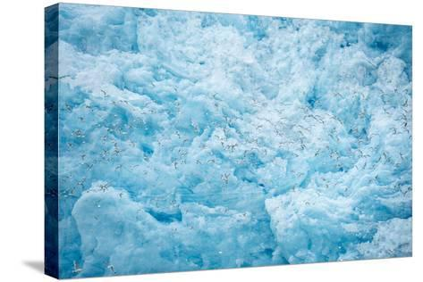 A Close Up of the Glacial Ice of Monacobreen Glacier-Michael Melford-Stretched Canvas Print