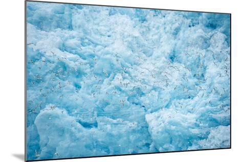 A Close Up of the Glacial Ice of Monacobreen Glacier-Michael Melford-Mounted Photographic Print