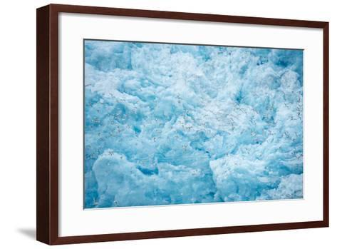 A Close Up of the Glacial Ice of Monacobreen Glacier-Michael Melford-Framed Art Print