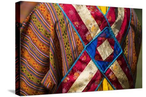 Detail of a Traditional Robe as Seen from the Rear-Michael Melford-Stretched Canvas Print